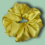 yellow Scrunchie green background